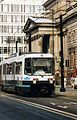 Manchester Metrolink B-58 tram nr. 1014, The City of Drama, 1994 - Flickr - sludgegulper.jpg