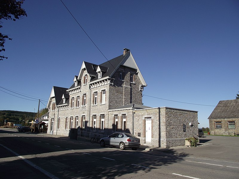 Manhay vicinal station en workplace. This was the center of the Comblain-la-Tour / Melreux