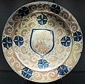 Manises, piatto con armoriale, 1450-1500 ca. 2.JPG