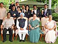 Manmohan Singh with the London Olympic Medal winners, at a function, in New Delhi. The Minister of State (Independent Charge) for Youth Affairs and Sports, Shri Ajay Maken, the Chairperson, National Advisory Council.jpg