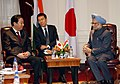 Manmohan Singh with the Prime Minister of Japan, Mr. Yoshihiko Noda, in a bilateral meeting, on the sidelines of the 66th Session of the United Nations General Assembly, in New York on September 23, 2011.jpg