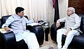 Manohar Lal Khattar meeting the Minister of State for Power, Coal, New and Renewable Energy and Mines (Independent Charge), Shri Piyush Goyal, on the issues related to Haryana Power, Coal, MNRE & Mines, in New Delhi (1).jpg