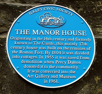 Manor House Museum - The Museum's blue plaque