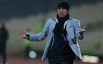 Alireza Mansourian - Mansourian coaching Naft Tehran against El Jaish in AFC Champions League
