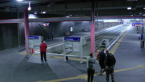 Manukau Branch - Manukau Station on the first day of services.