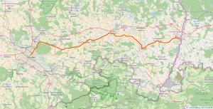 Görlitz–Dresden railway - Image: Map of 6212 Görlitz Dresden