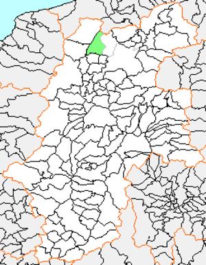Kinasa, Nagano - location of Kinasa in Nagano Prefecture