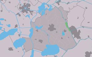 Nijehaske - Image: Map NL Skarsterlân Nijehaske