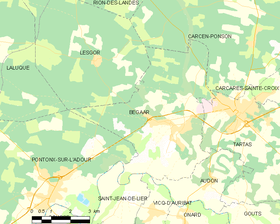 Map commune FR insee code 40031.png
