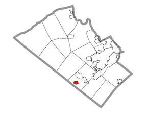 Map of Alburtis, Lehigh County, Pennsylvania Highlighted.png