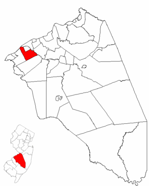 Delran Township, New Jersey - Image: Map of Burlington County highlighting Delran Township
