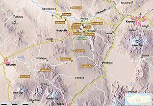 Runfire Cappadocia Ultramarathon - Map of Cappadocia