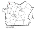 Map of Fayette City, Fayette County, Pennsylvania Highlighted.png