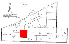 Map of Franklin Township, Erie County, Pennsylvania Highlighted.png