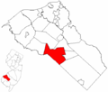 Map of Gloucester County highlighting Elk Township.png