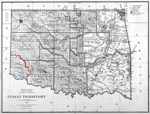 Greer County, Texas - Image: Map of Greer County Texas