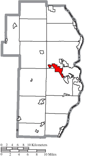 Wintersville, Ohio - Image: Map of Jefferson County Ohio Highlighting Wintersville Village