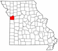 Map of Missouri highlighting Jackson County.png