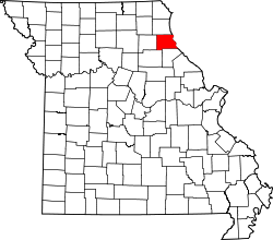 Map of Missouri highlighting Marion County.svg