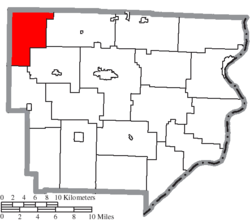 Location of Seneca Township in Monroe County