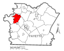 Location of Redstone Township in Fayette County