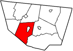 Map of Sullivan County, Pennsylvania highlighting Shrewsbury Township