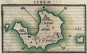 Tilos - Map of Tilos, 1547