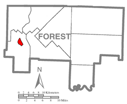 Map of Tionesta, Forest County, Pennsylvania