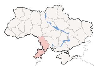 Одесская область на карте