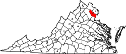 Map of Virginia highlighting Prince William County.svg