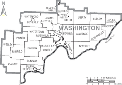 Map of Washington County Ohio With Municipal and Township Labels.PNG