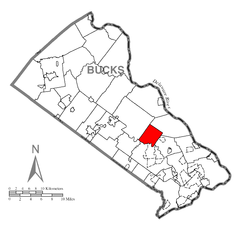 Map of Wrightstown Township, Bucks County, Pennsylvania Highlighted.png