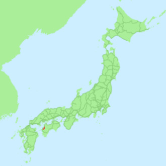 Uchiko Line - Image: Map railroad japan uchiko rough