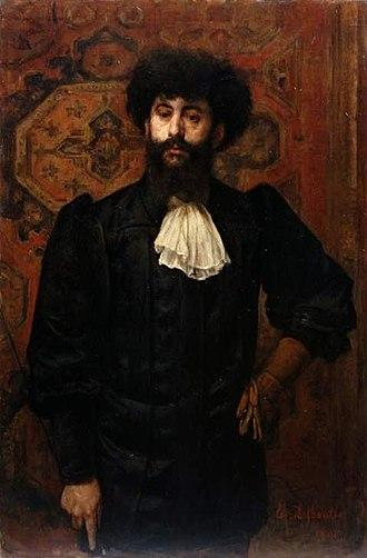 Joséphin Péladan - Portrait of Péladan by  Marcellin Desboutin (1891)