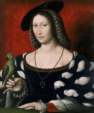 Jean Clouet - Jean Clouet, Portrait of Marguerite d'Angoulême, ca. 1530