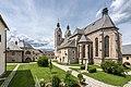 Maria Saal Collegiatsstift Karner und Pfarrkirche Mariae Himmelfahrt SO-Ansicht 30062017 0005.jpg