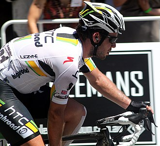 2011 Giro d'Italia - Mark Cavendish won two stages and wore the pink jersey – only Alberto Contador did the same.