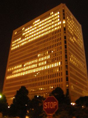 ING Group - Former ING Insurance at night in Minneapolis, Minnesota in the United States