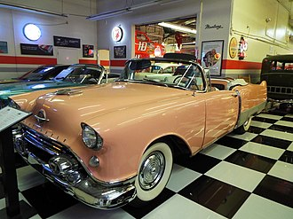 The Late Show (film) - Custom built 1954 Oldsmobile-Cadillac for the film on display in the Martin Auto Museum