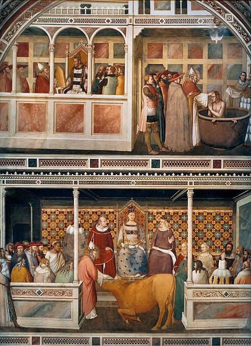 Maso di Banco, Storie di san Silvestro, Cappella Bardi di Vernio, Basilica di Santa Croce, Firenze