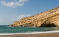 Matala beach cliff Crete Greece.jpg