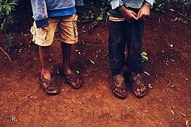 Materuni Kilimanjaro, muddy feet after a playful morning.jpg