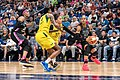 Maya Moore (23) looks for a shot as she's guarded by Alysha Clark (32) and Natasha Howard (6) in the Minnesota Lynx vs Seattle Storm game at Target Center, the Storm won the game 81-72.jpg