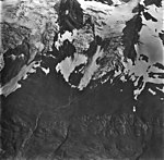 McCarty Glacier, hanging glaciers with icefall and bergschrund, September 4, 1977 (GLACIERS 6627).jpg