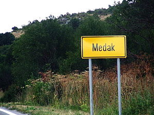 Medak, Croatia - Entrance to Medak