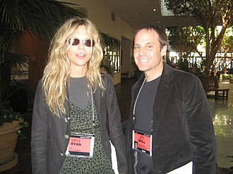 Participant Media - Jeffrey Skoll (pictured with actress Meg Ryan in 2007), founder and chief executive officer of Participant Media, stepped down in 2006 after appointing James Berk to be chief executive officer.