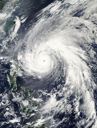 Typhoon Megi (2010) - Typhoon Megi approaching the Philippines on October 17