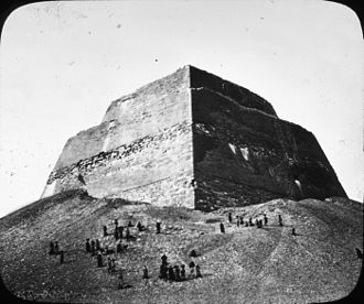 Meidum - Lantern Slide Collection: Views, Objects: Egyptian - Old Kingdom. Step Pyramid of Meidum, 4th Dyn., n.d. Brooklyn Museum Archives