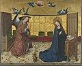 Meister des Marienlebens - Marienleben, Verkündigung Mariens Rückseite, untere Hälfte einer Kreuzigung Christi - WAF 622 - Bavarian State Painting Collections.jpg