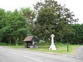Meldreth War Memorial and bus stop shelter - geograph.org.uk - 877687.jpg